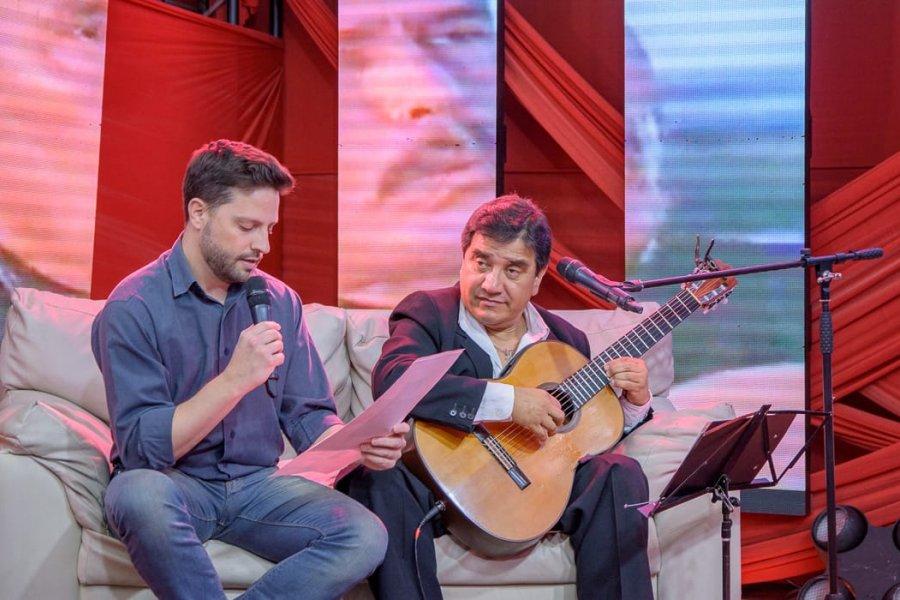 Ibarra y Creppy en los estudios de Canal 10.