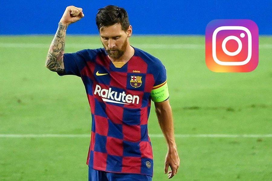 Messi tiene millones de seguidores en Instagram.